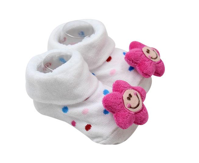 Meia Sapatilha Bebê Estrelinha com Bolinhas Coloridas Pimpolho