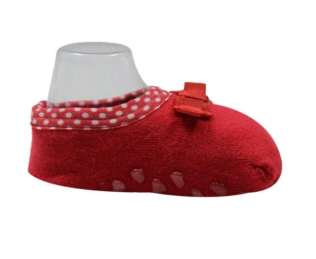 Meia Vermelha Lacinho Antiderrapante
