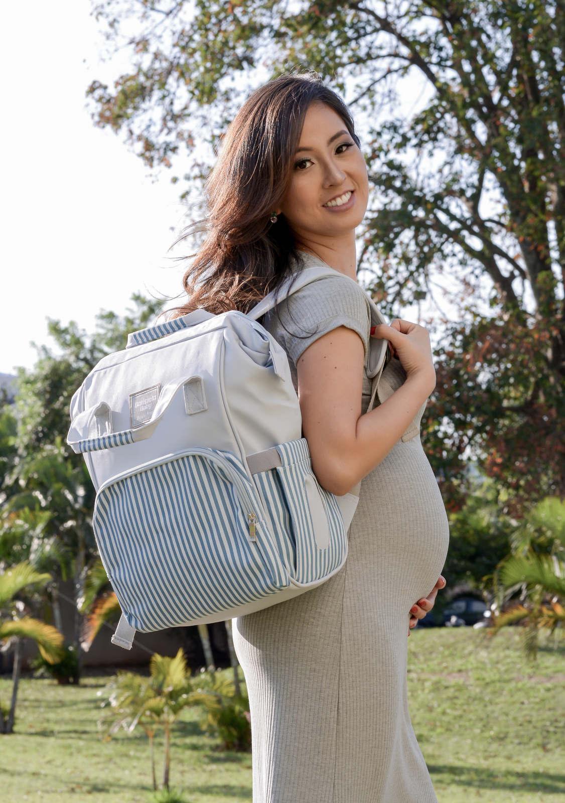 Mochila Maternidade Azul Urban Batistela Baby