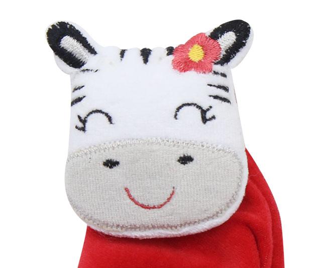 Naninha de Plush de Zebra Vermelha Best Club