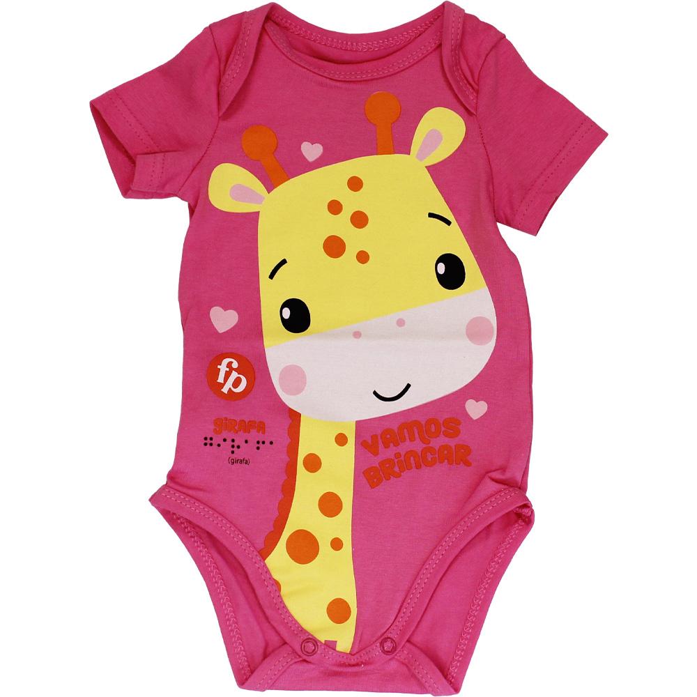 Body Girafinha Rosa Malwee