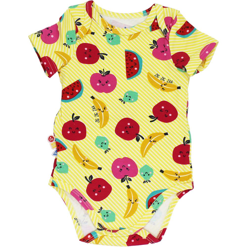 Body Frutas Bebê Malwee Amarelo