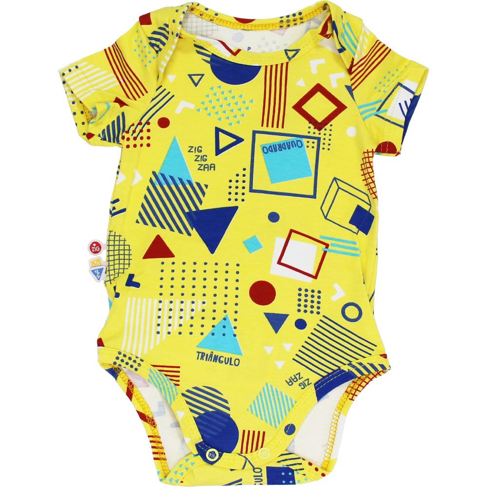 Body Estampado Bebê Amarelo Malwee