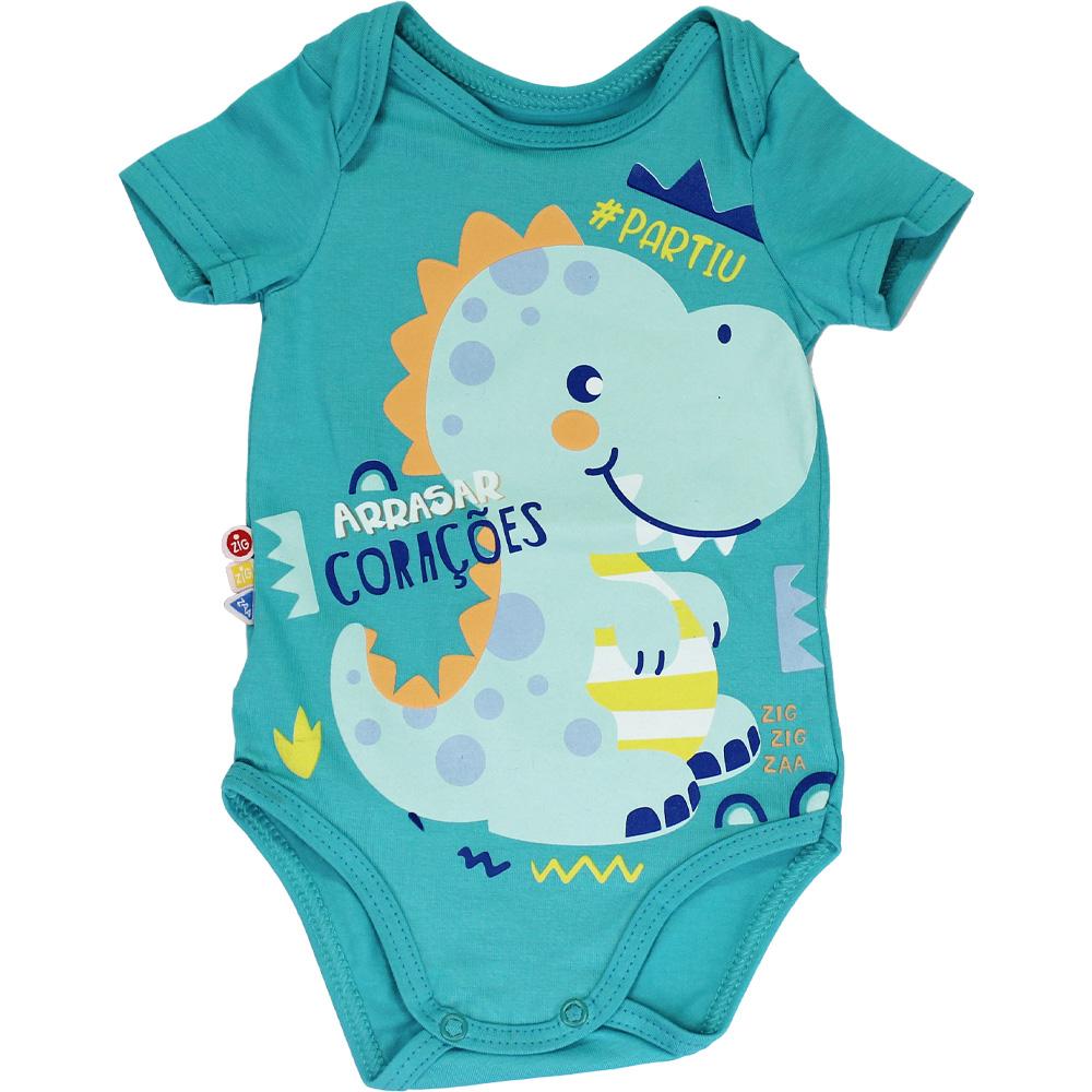 Body Bebê Frases Dinossauro Malwee