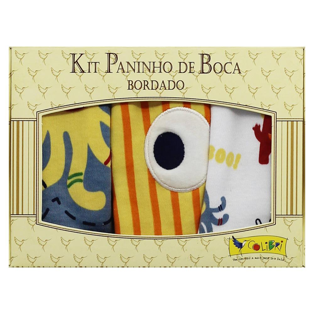Paninho De Boca Menino Colibri Amarelo Monstrinho