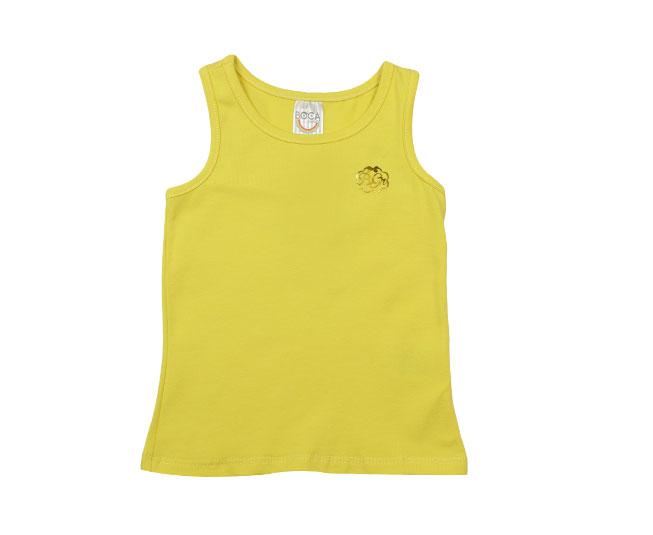 Regata Feminina Amarela Boca Grande