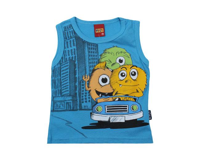 Camiseta Regata Masculina Monstrinhos Kyly