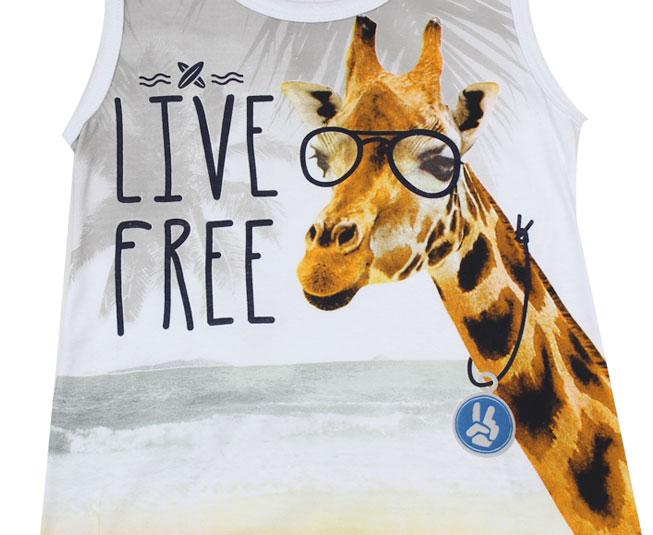 """Regata """"Live Free"""" Girafa Brandili"""