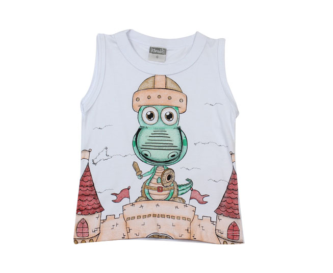Camiseta Regata de Dragão Interativo Kamylus