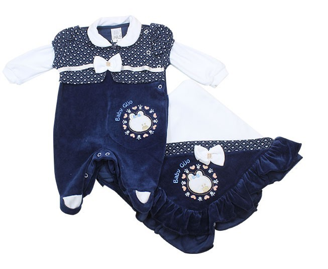 Saida de Maternidade Feminina Azul Marinho Baby Gijo