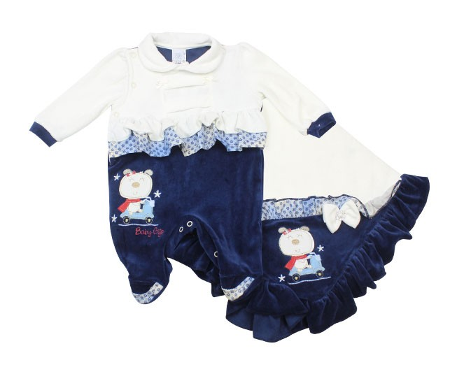 Saida de Maternidade Feminino Branco Baby Gijo