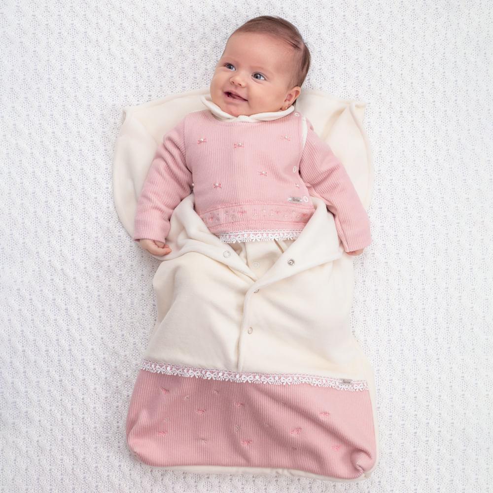 Saída De Maternidade Menina Paraíso Off White