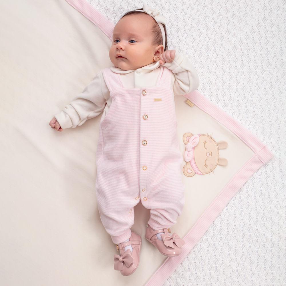 Saída De Maternidade Menina Paraíso Rosa Plush