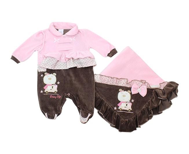 Saida de Maternidade Rosa Baby Gijo