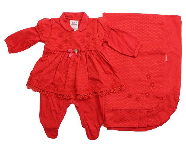 Saida de Maternidade Vermelho Malha Sonho Magico