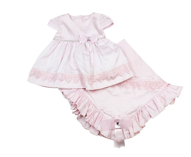 Saida de Maternidade Vestido Rosa
