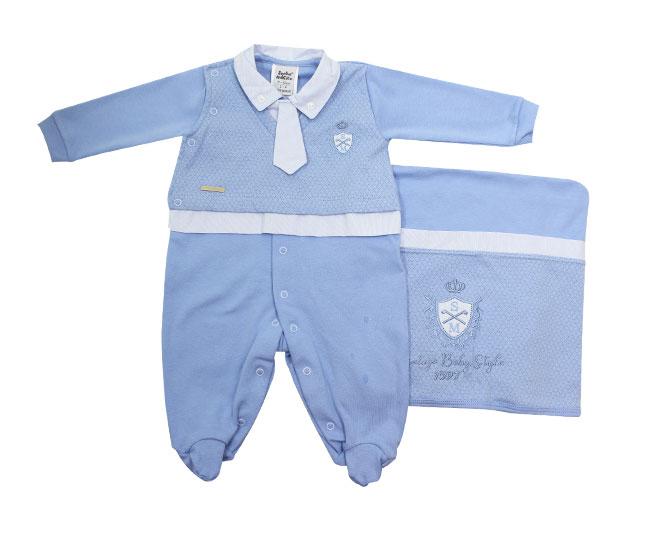 Saida Maternidade Azul Gravatinha