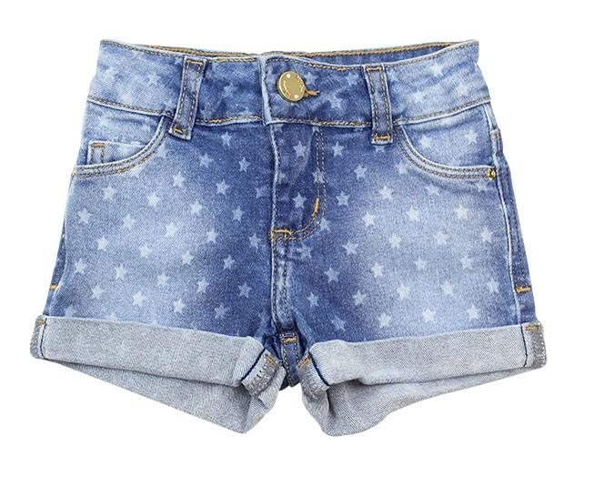 Short Jeans Feminino Azul Estrelado Milon