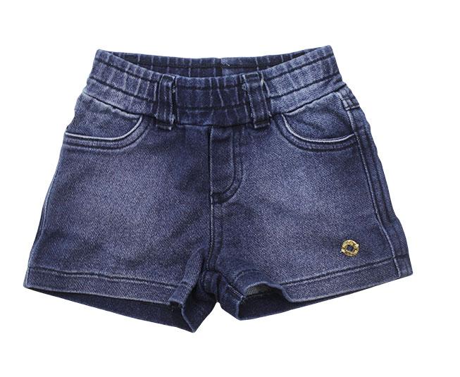 Short Jeans Feminino Azul Marinho Elástico Milon