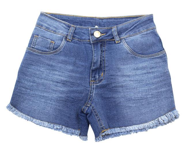 Short Jeans Feminino Azul Marinho Milon