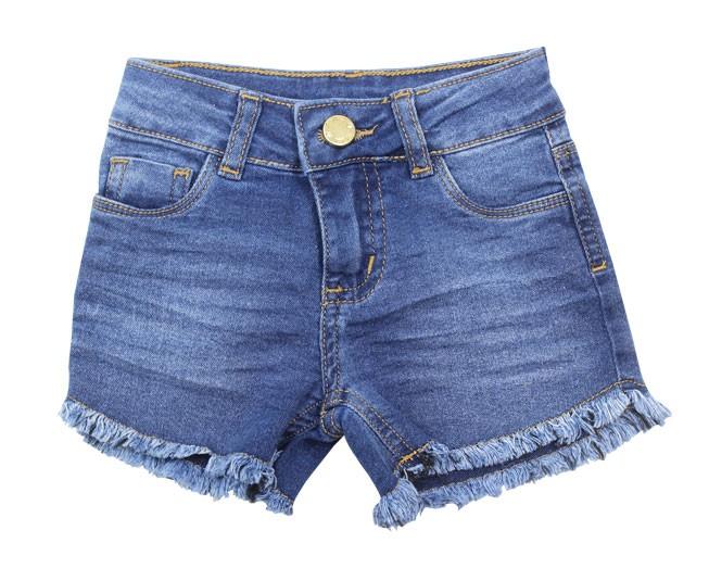 Short Jeans Feminino Desfiado Milon