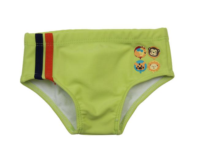 Sunga Infantil Tip Top  Casual Verde Limão Estampada Animais