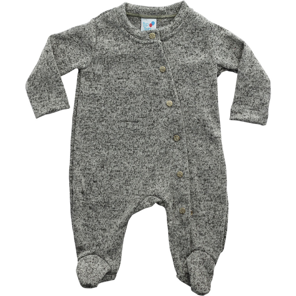 Macacão De Bebê Tip Top Cinza