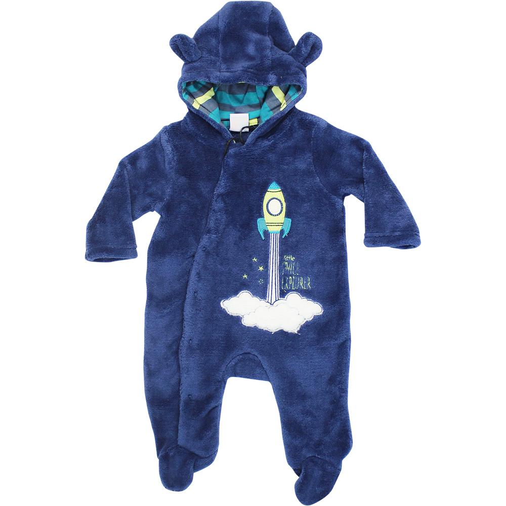 Macacão Tip Top Plush Astronauta Azul Marinho