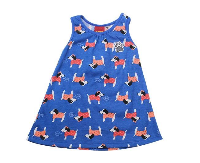 Vestido Azul Cachorrinhos Kyly