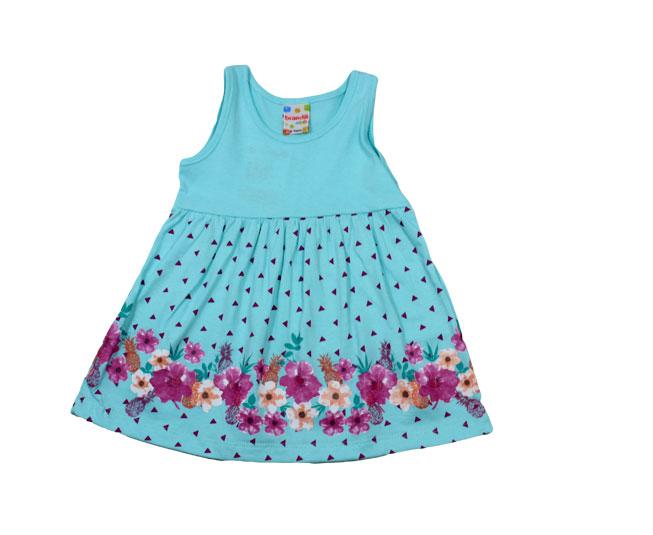 Vestido Azul Florido Brandili