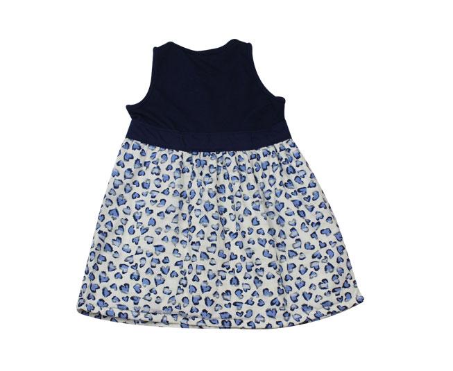 Vestido Azul Marinho de Coração Brandili