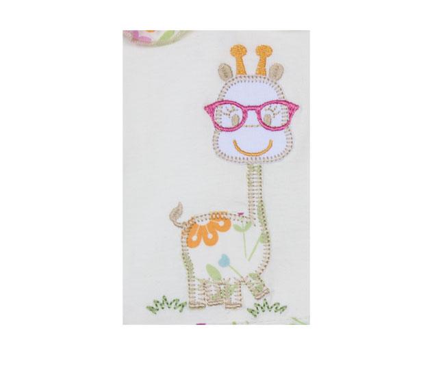 Vestido Creme Girafinha Feliz Vigui