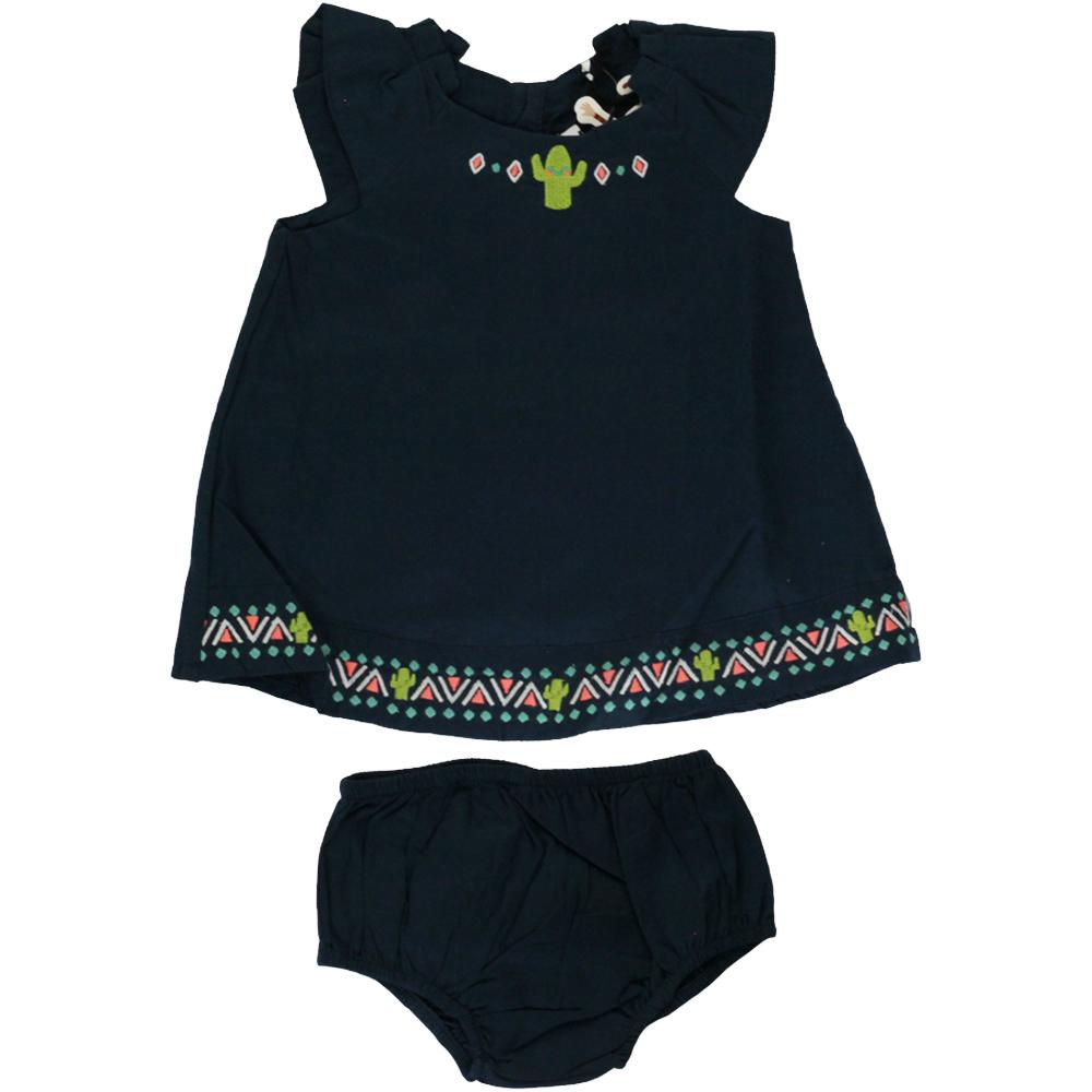 Vestido De Bebê Azul Marinho Tip Top
