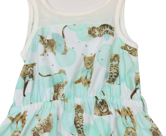 Vestido de Gatinhos Carinhoso