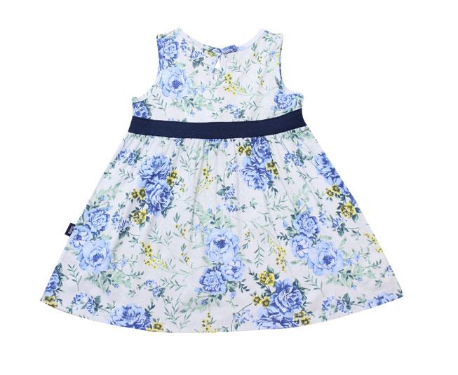 Vestido Florido Azul + Lacinho Pulla Bulla