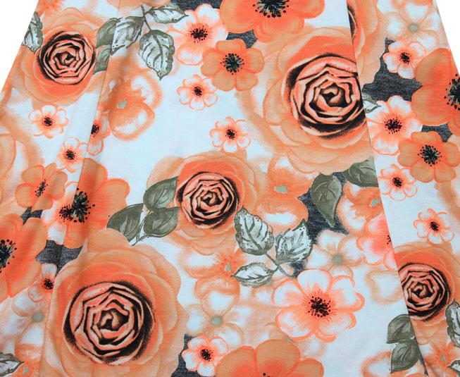 Vestido Florido Laranja Cintilante Brandili