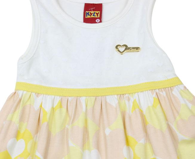 Vestido Kyly Amarelo Coração