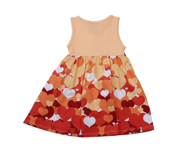 Vestido Laranjado com Corações kyly