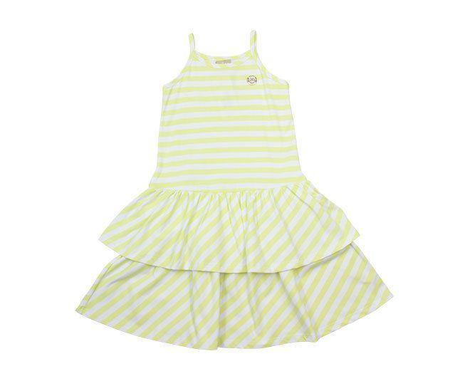 Vestido Listrado Amarelo e Branco Milon