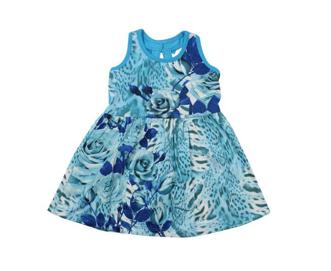 Vestido Regata Azul Florido Brandili