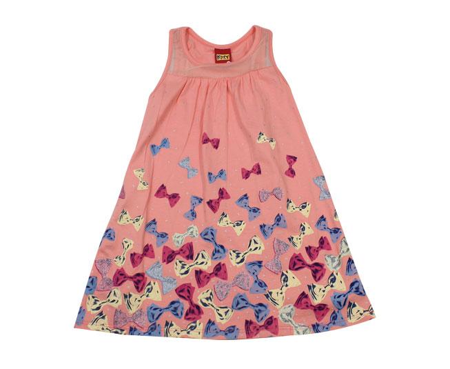 Vestido Regata Lacinhos Rosa Kyly