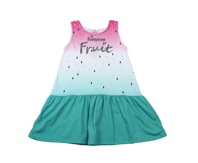 "Vestido Regata ""Summer Fruit"" Brandili  Rosa Azul"