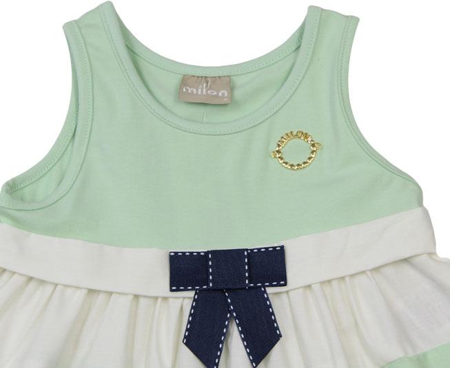 vestido Regata Verde Milon com Lacinho
