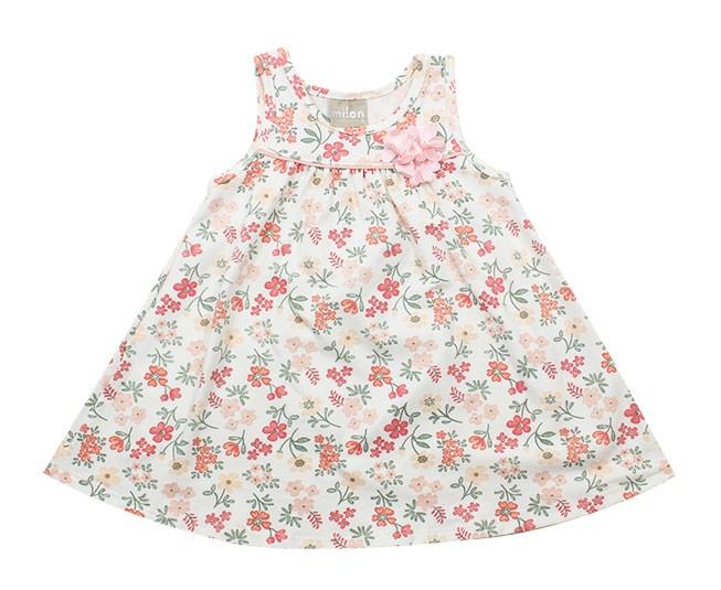 Vestido Rosa Claro Florido Milon