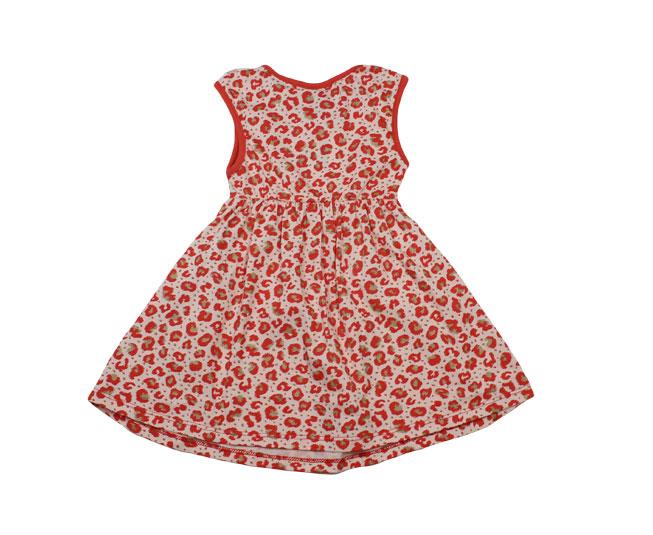 Vestido Rosa com Detalhes de Flores + Lacinho Kyly