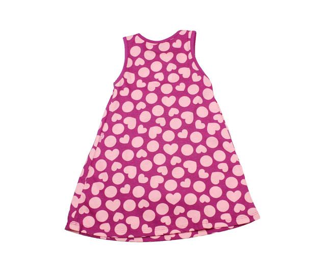 Vestido Rosa de Bolinhas e Corações Kyly