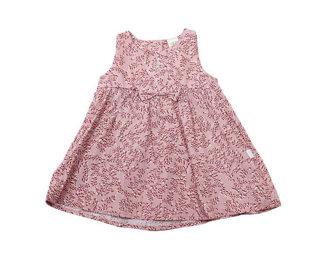 Vestido Rosa Regata Florido + Lacinho + Coração Pulla Bulla