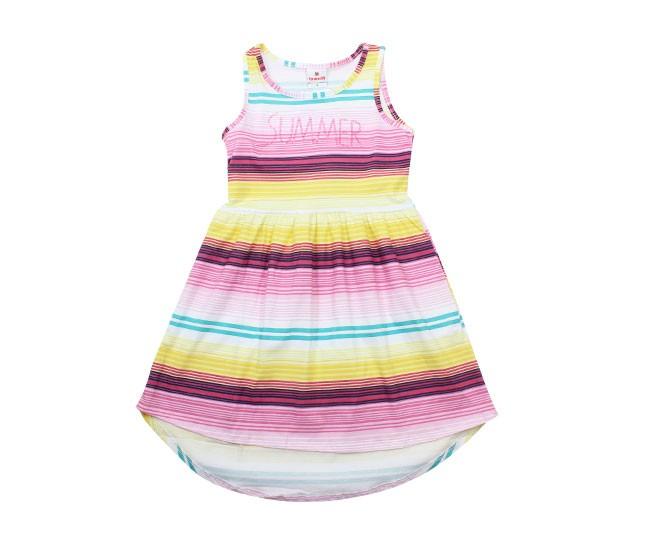 Vestido Summer Listrado Colorido Brandili