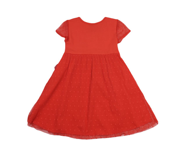 Vestido Vermelho Alaranjado Kyly