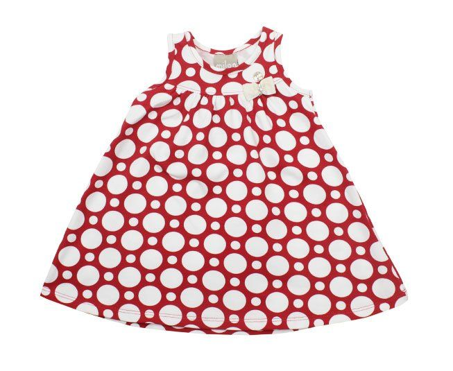 Vestido Vermelho de Bolinhas Brancas Milon